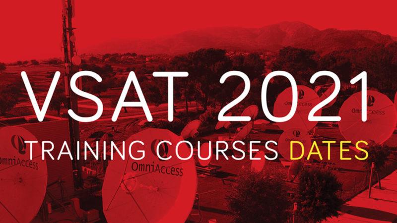 New VSAT Training dates for 2021